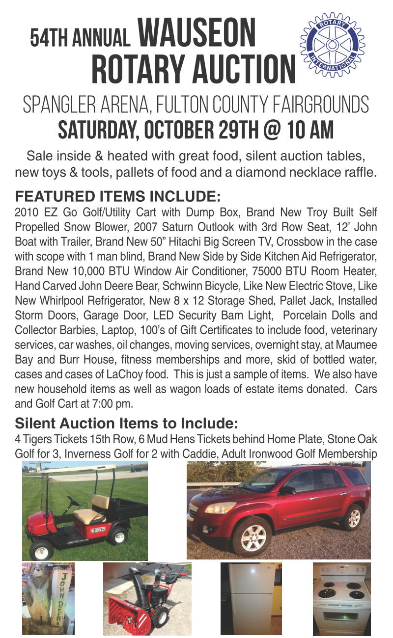 Wauseon Rotary Auction List